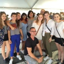 Each fall, the Creative Writing students attend the Texas Book Festival in Austin, where they participate in workshops, see the industry in action, and meet their favorite authors - like Chuck Palahniuk, pictured above!  This trip is accessible to all Creative Writing students thanks to the generous support of the Guild.