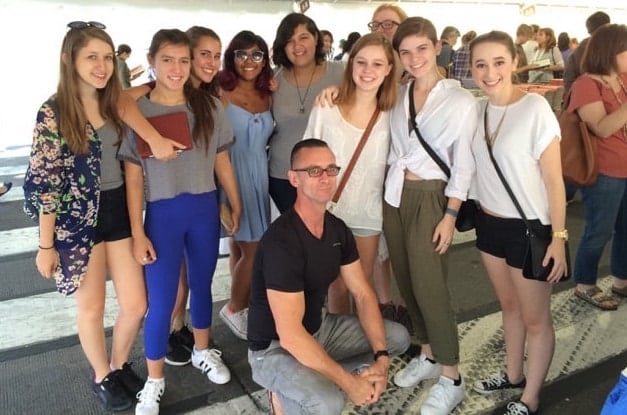 HSPVA Creative Writing Students with author Chuck Palahniuk