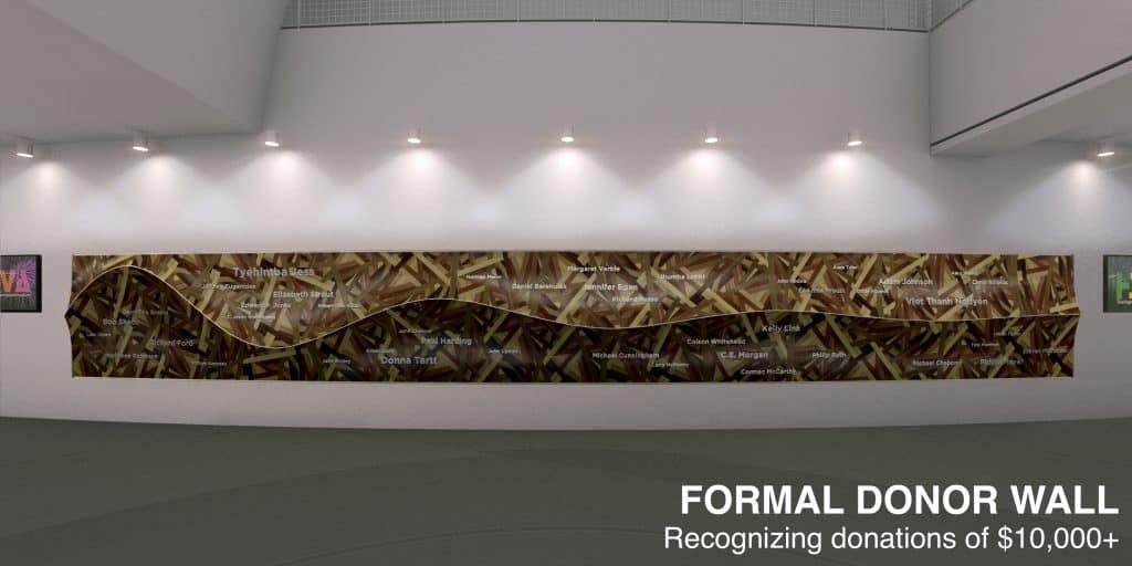 Kinder HSPVA Formal Donor Wall